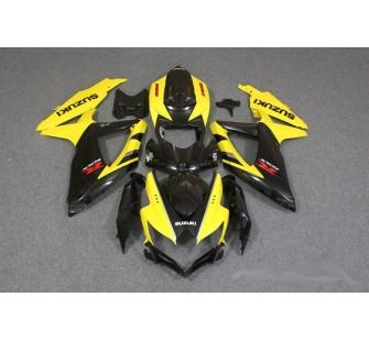 Комплект пластика для мотоцикла Suzuki GSX-R600 750 08-10 Желто-Черный