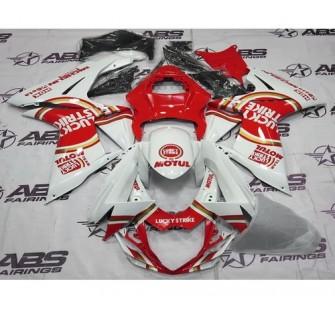 Комплект пластика для мотоцикла Suzuki GSX-R600 750 11-15 Lucky Strike бело-красный