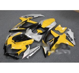 Комплект пластика для мотоцикла Suzuki GSX-R600 750 2008-2010 Желто-Серый